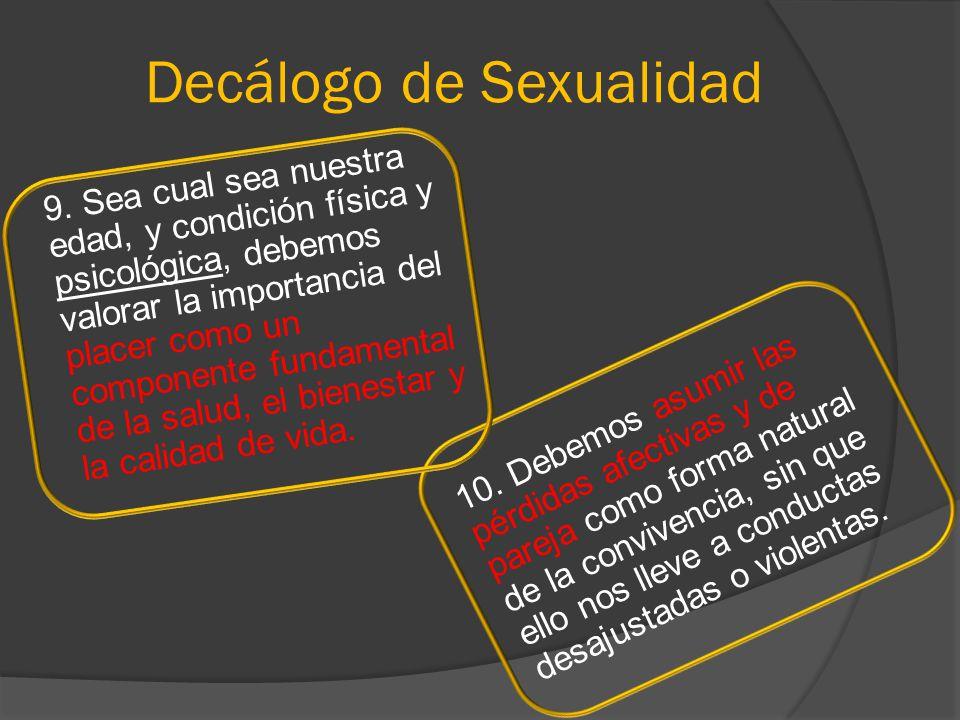 Decálogo de Sexualidad
