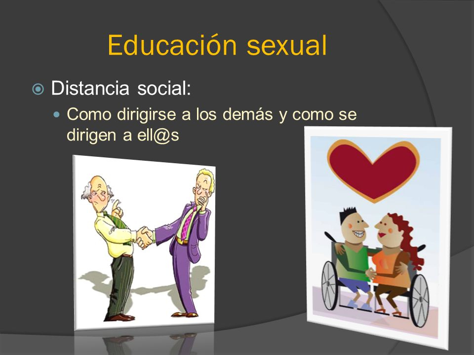 Educación sexual Distancia social: