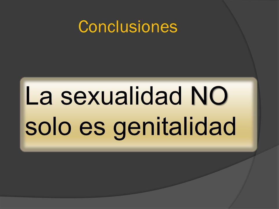 La sexualidad NO solo es genitalidad