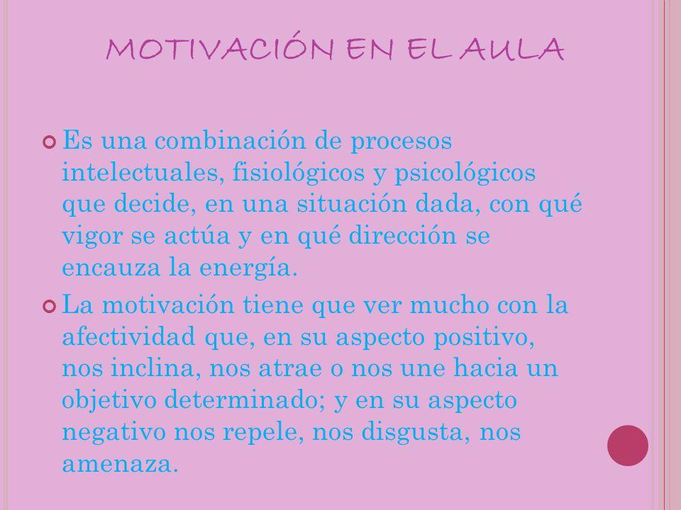 MOTIVACIÓN EN EL AULA