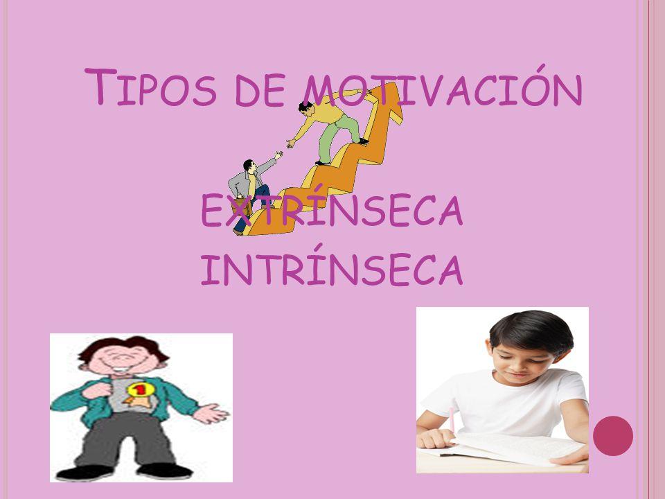 Tipos de motivación extrínseca intrínseca