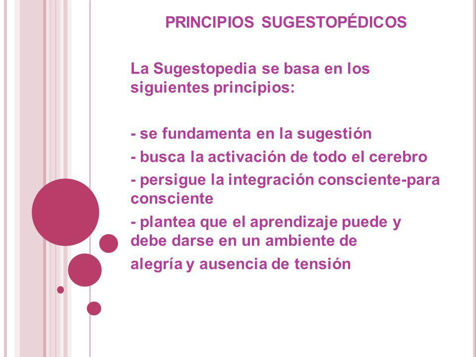 PRINCIPIOS SUGESTOPÉDICOS