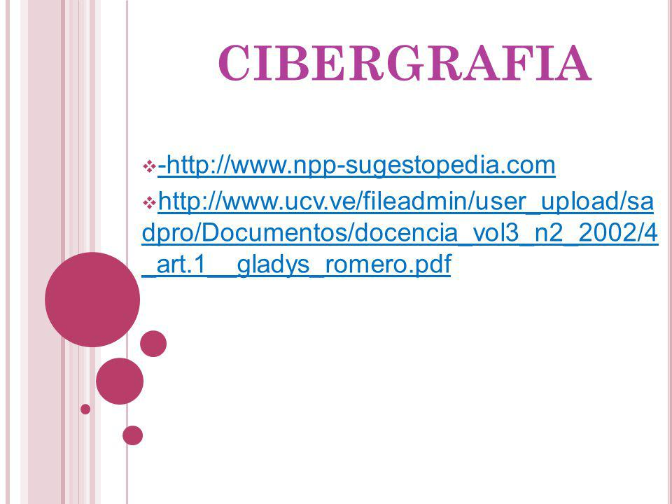 CIBERGRAFIA -http://www.npp-sugestopedia.com