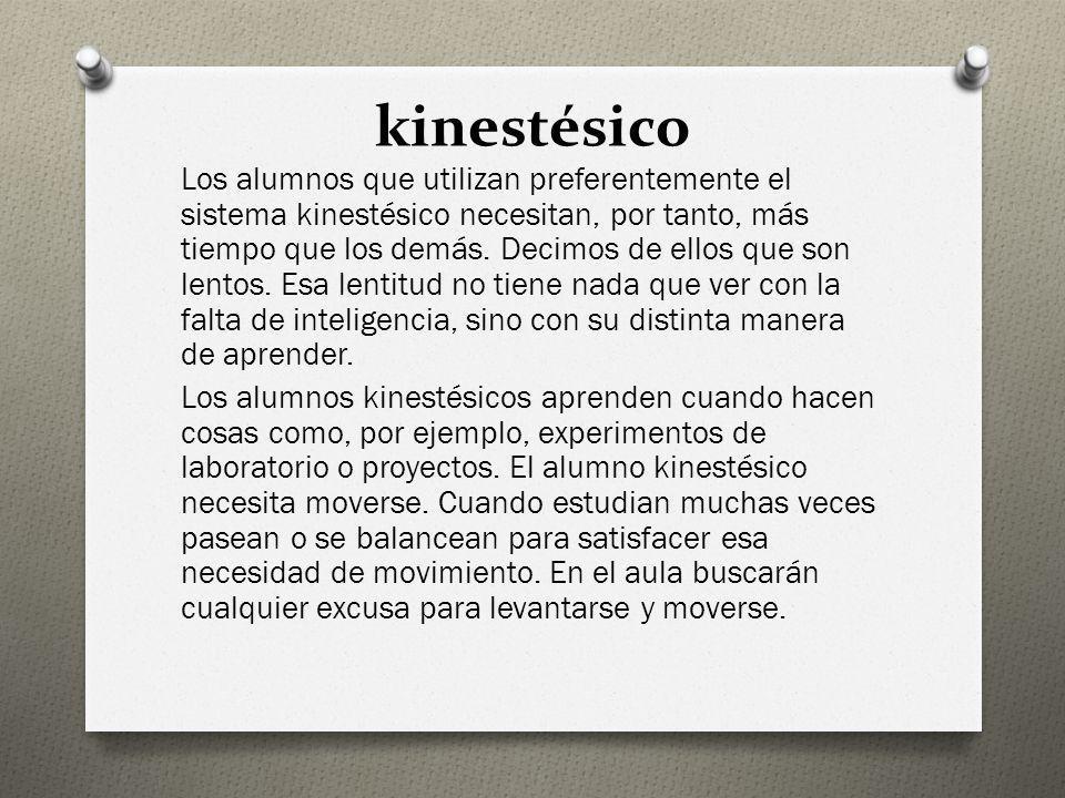 kinestésico