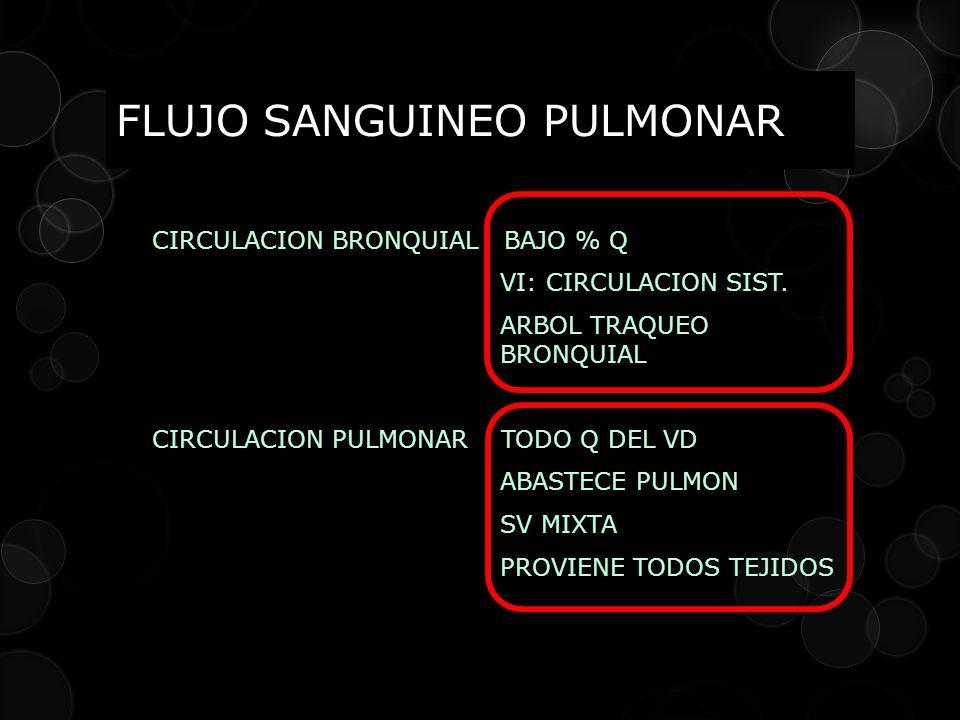 FLUJO SANGUINEO PULMONAR