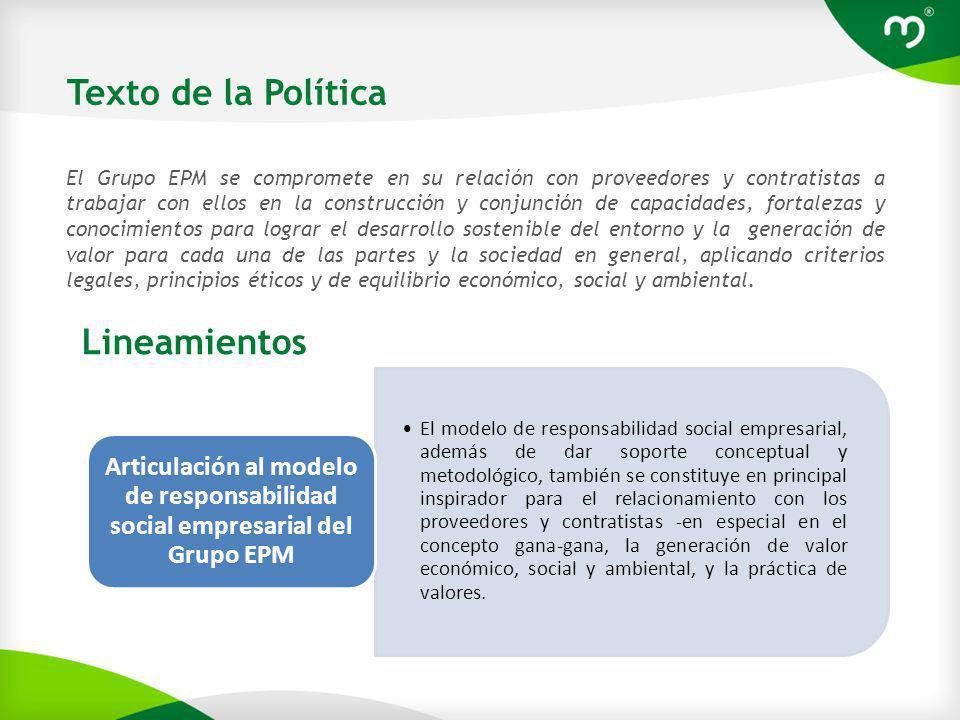 Texto de la Política Lineamientos