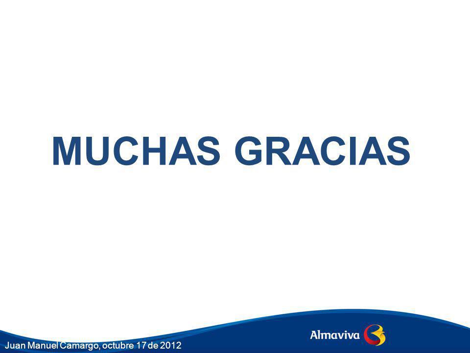 MUCHAS GRACIAS Juan Manuel Camargo, octubre 17 de 2012