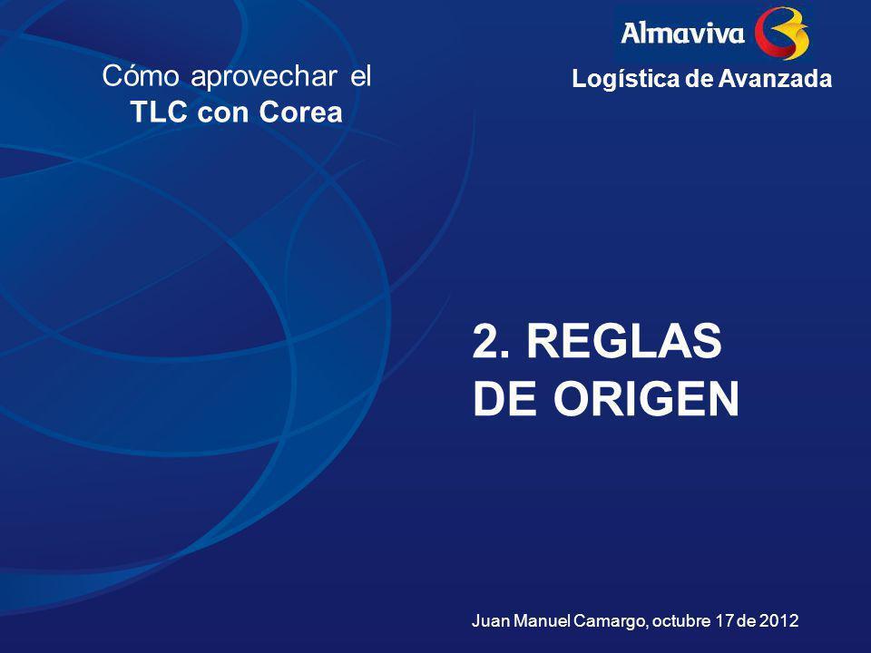 2. REGLAS DE ORIGEN Cómo aprovechar el TLC con Corea