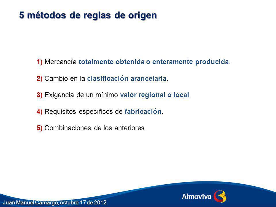 5 métodos de reglas de origen