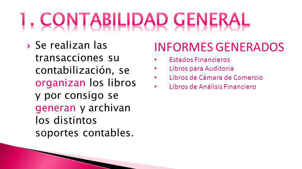 1. CONTABILIDAD GENERAL INFORMES GENERADOS