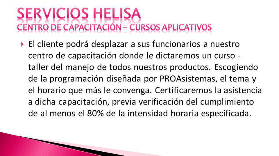 SERVICIOS HELISA CENTRO DE CAPACITACIÓN – CURSOS APLICATIVOS