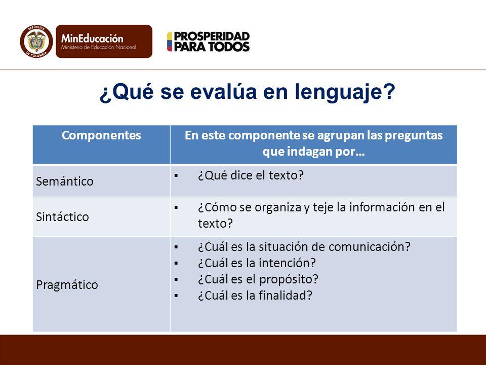 ¿Qué se evalúa en lenguaje