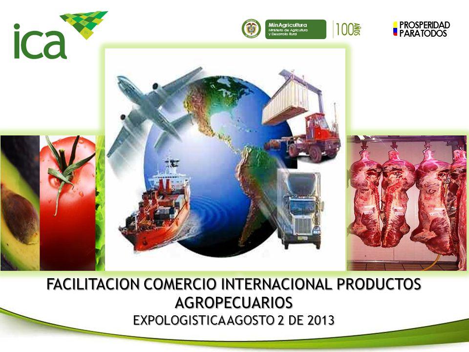 FACILITACION COMERCIO INTERNACIONAL PRODUCTOS AGROPECUARIOS