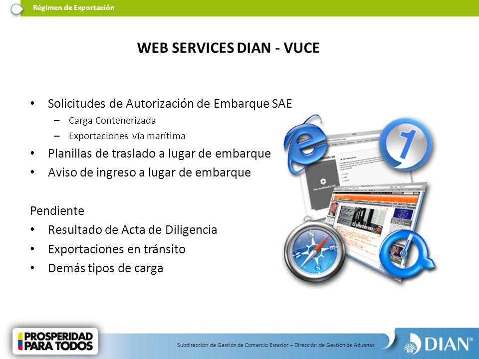 WEB SERVICES DIAN - VUCE
