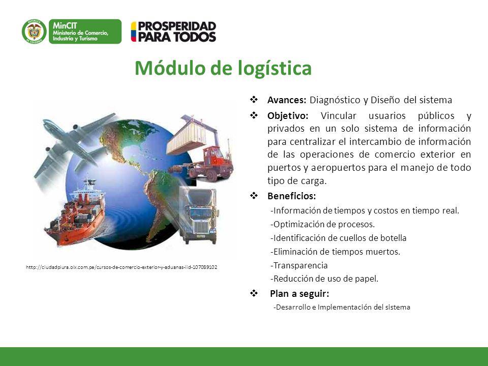 Módulo de logística Avances: Diagnóstico y Diseño del sistema