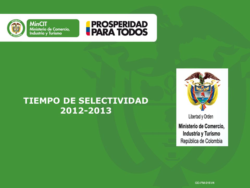 TIEMPO DE SELECTIVIDAD 2012-2013