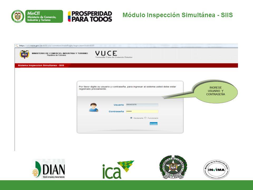 Módulo Inspección Simultánea - SIIS