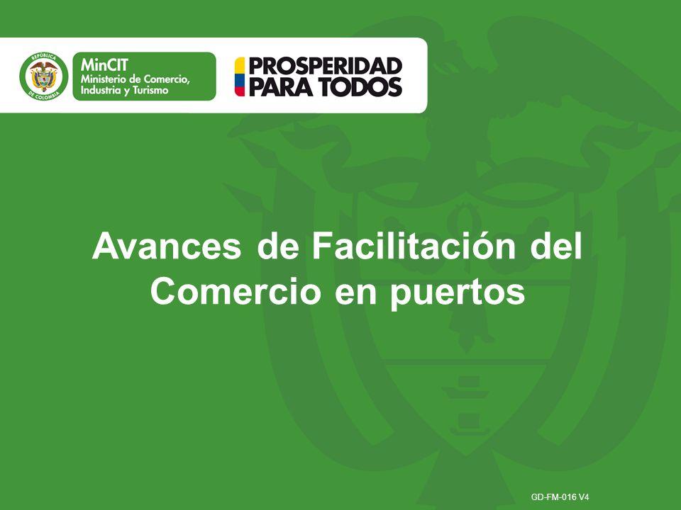 Avances de Facilitación del Comercio en puertos