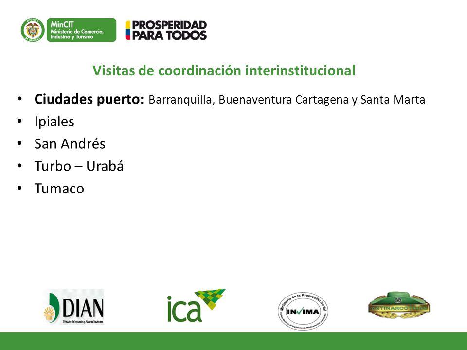 Visitas de coordinación interinstitucional