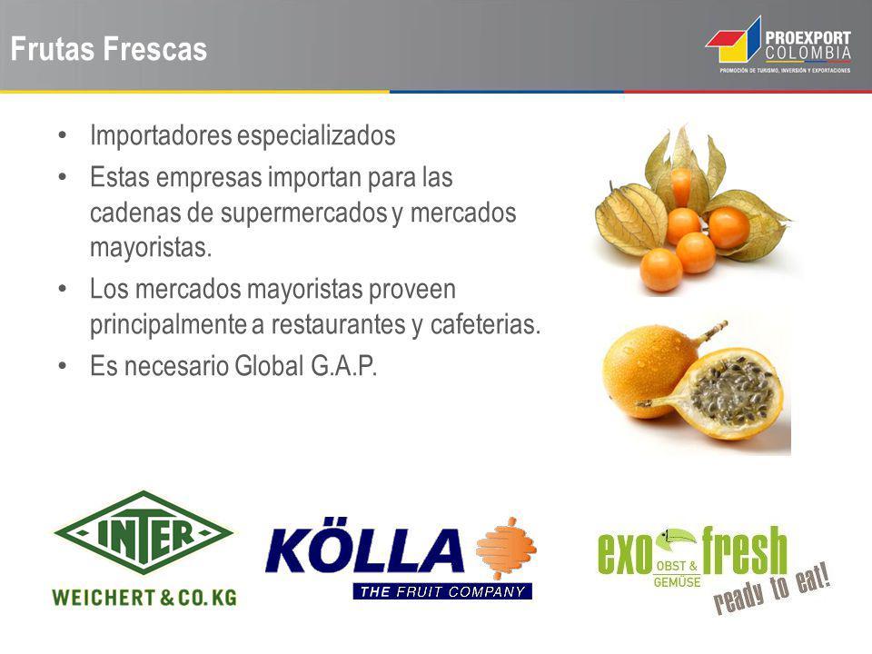 Frutas Frescas Importadores especializados