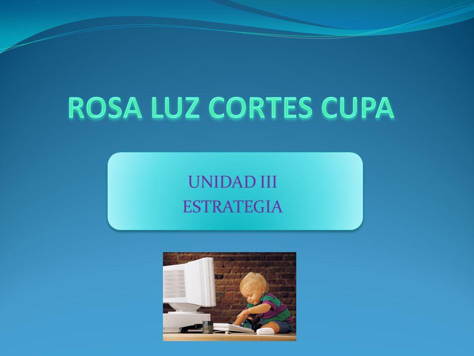ROSA LUZ CORTES CUPA UNIDAD III ESTRATEGIA