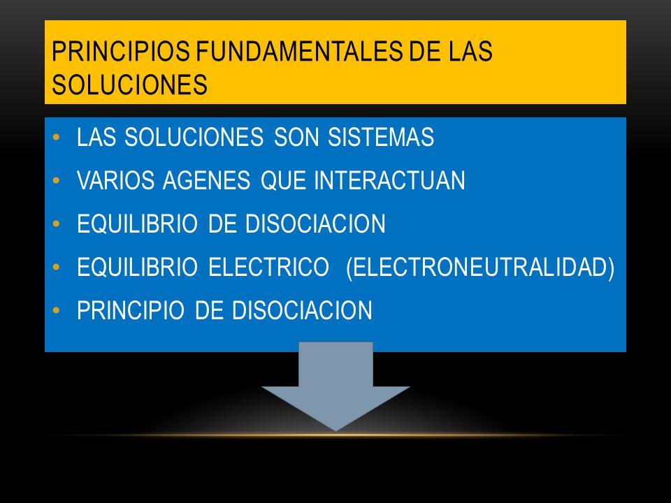 PRINCIPIOS FUNDAMENTALES DE LAS SOLUCIONES