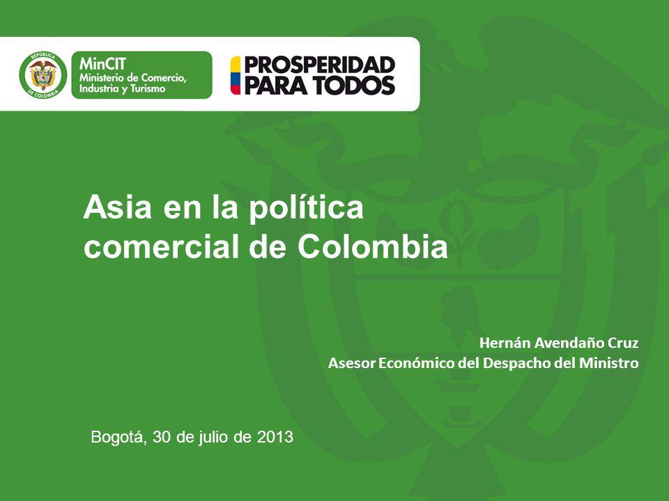 Asia en la política comercial de Colombia