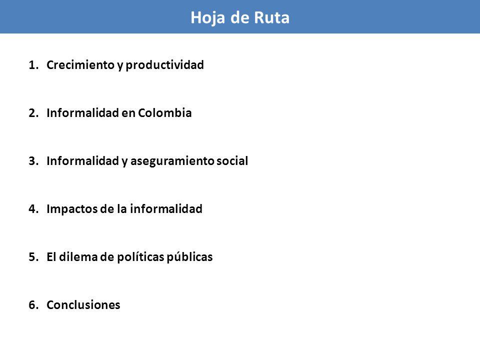 Hoja de Ruta Crecimiento y productividad Informalidad en Colombia