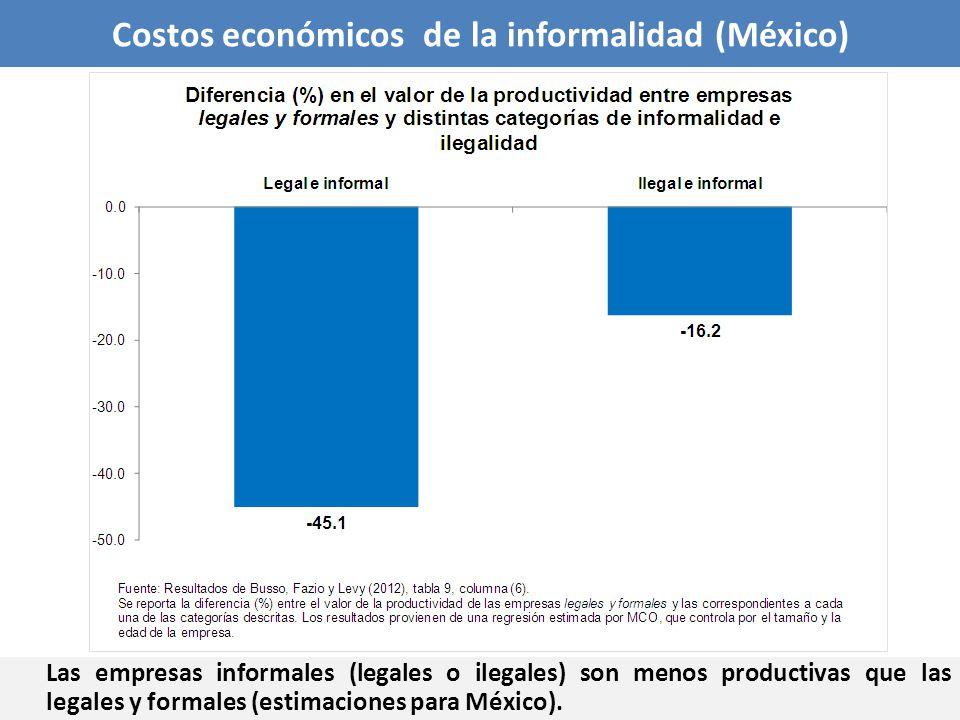 Costos económicos de la informalidad (México)