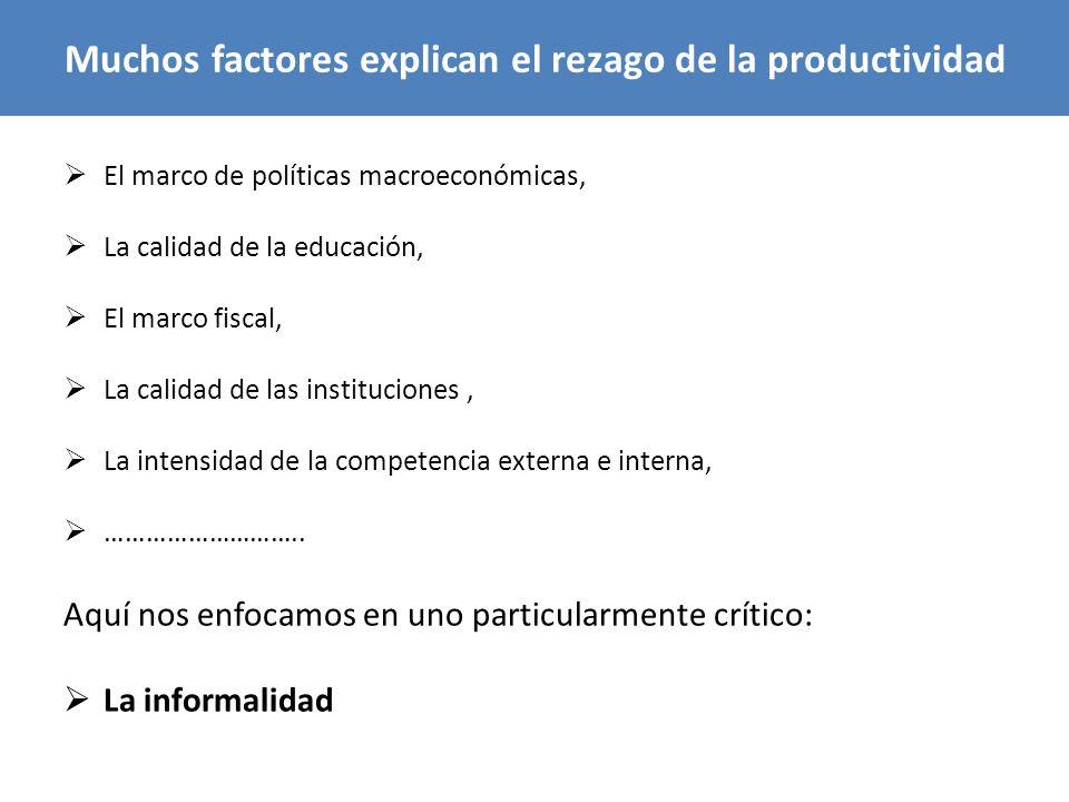 Muchos factores explican el rezago de la productividad
