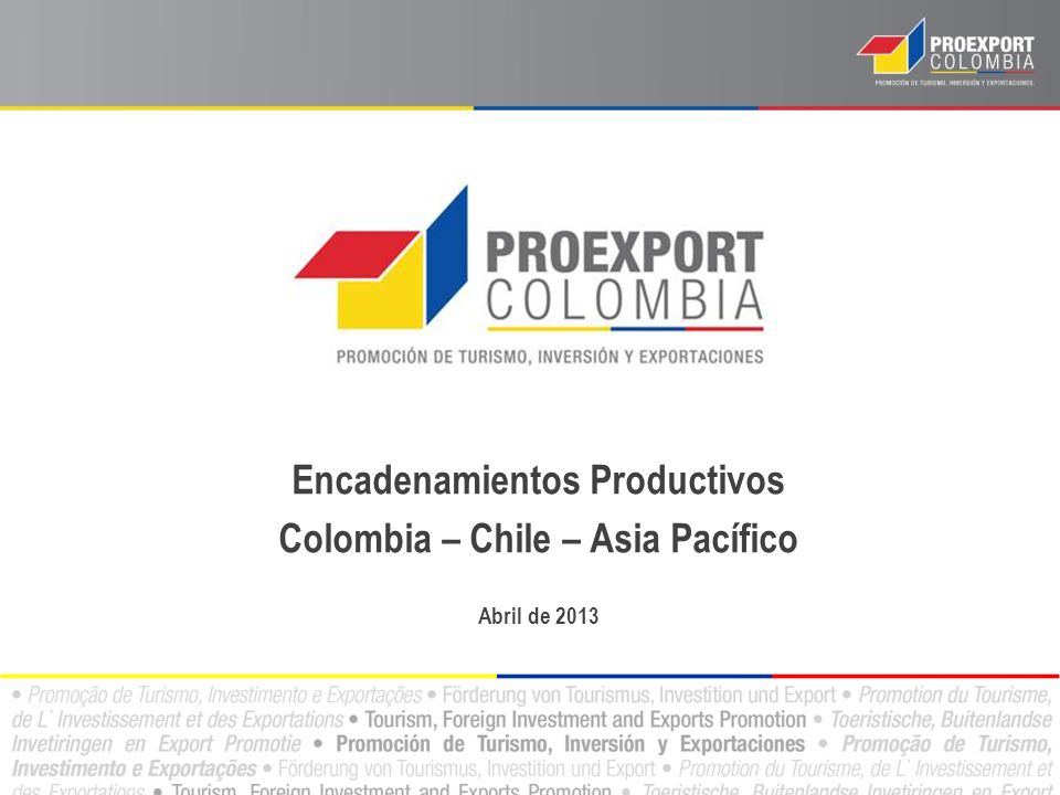 Encadenamientos Productivos Colombia – Chile – Asia Pacífico