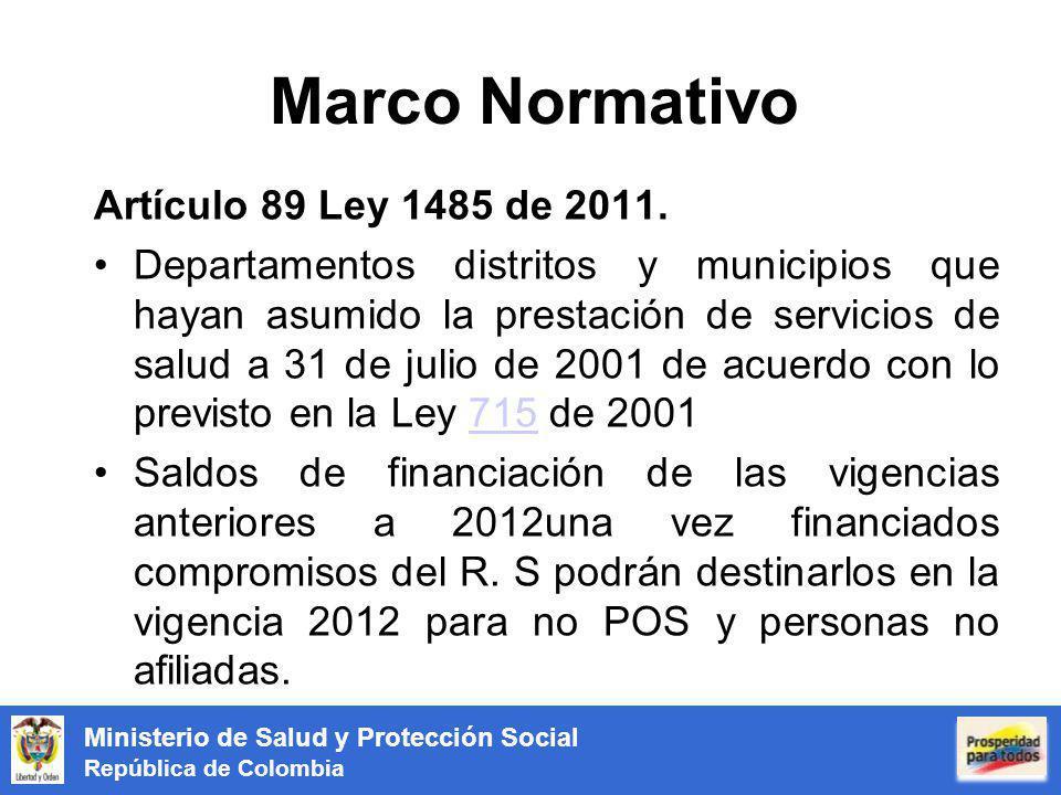 Marco Normativo Artículo 89 Ley 1485 de 2011.