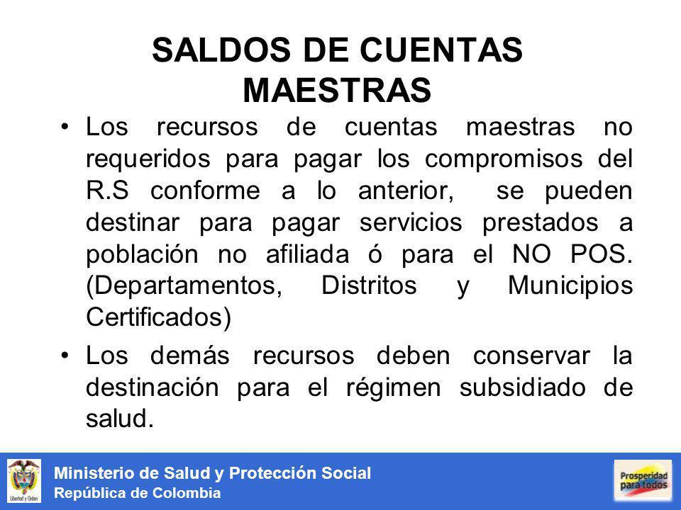 SALDOS DE CUENTAS MAESTRAS