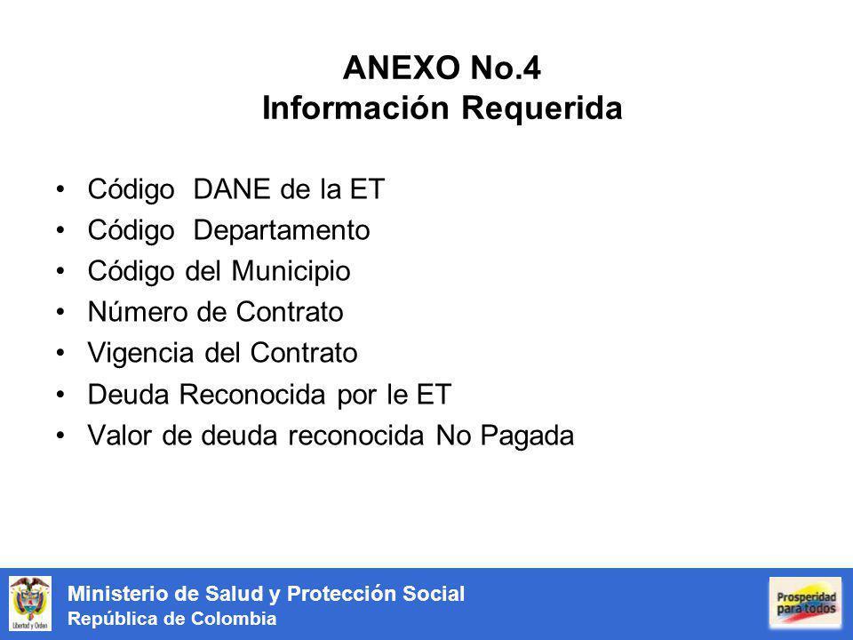 ANEXO No.4 Información Requerida