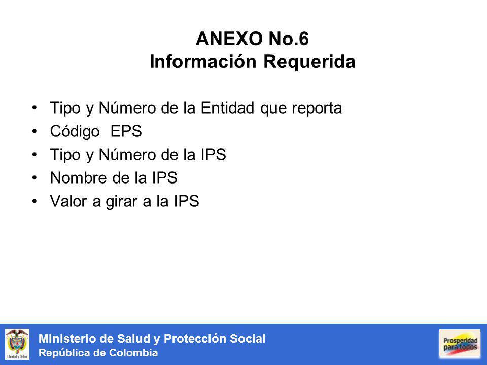 ANEXO No.6 Información Requerida