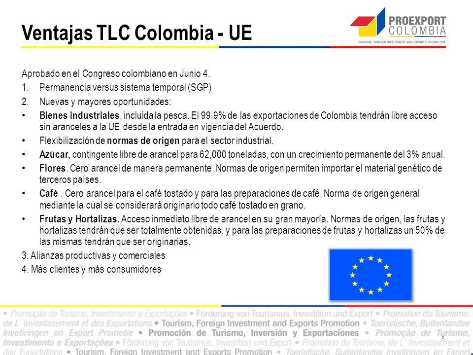 Ventajas TLC Colombia - UE