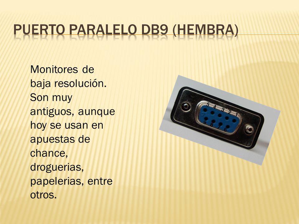 Puerto paralelo db9 (hembra)