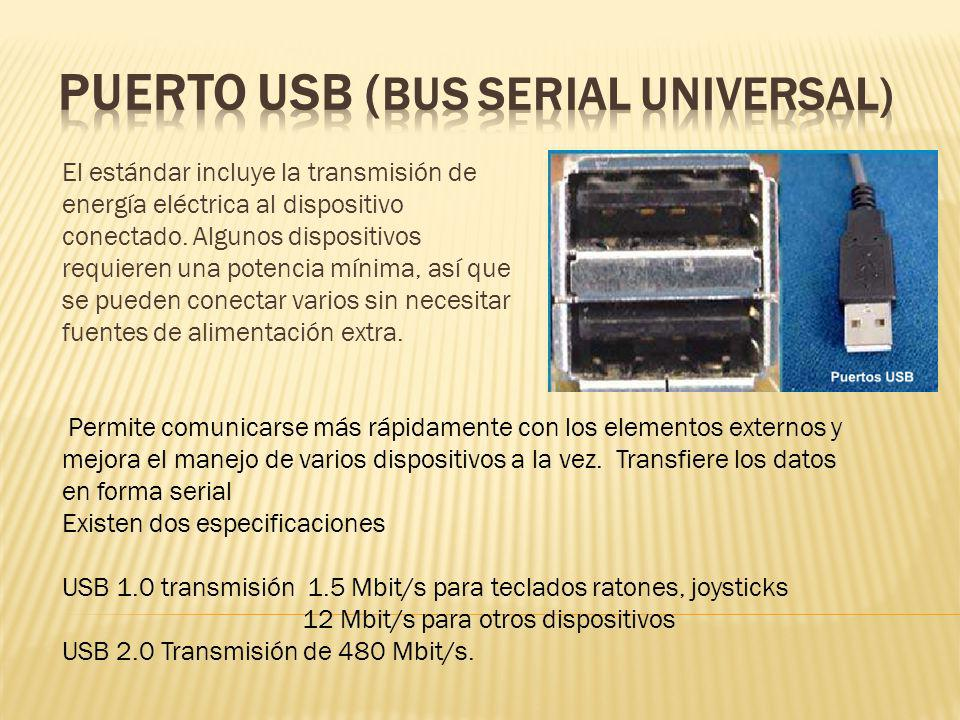 PUERTO USB (BUS SERIAL UNIVERSAL)