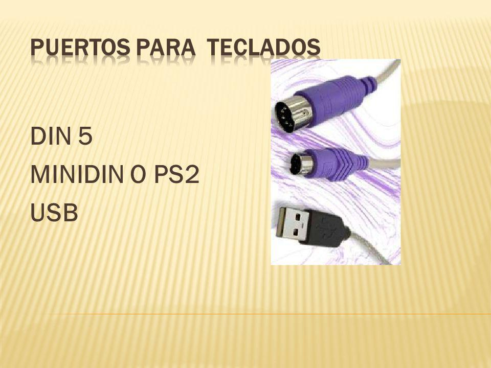 PUERTOS PARA TECLADOS DIN 5 MINIDIN O PS2 USB