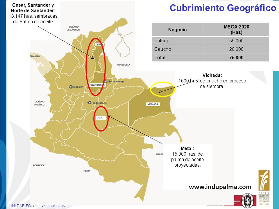 Cesar, Santander y Norte de Santander: