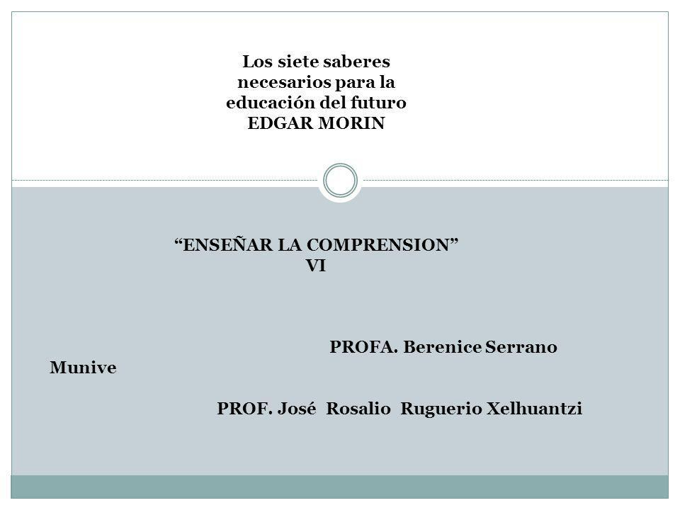 ENSEÑAR LA COMPRENSION