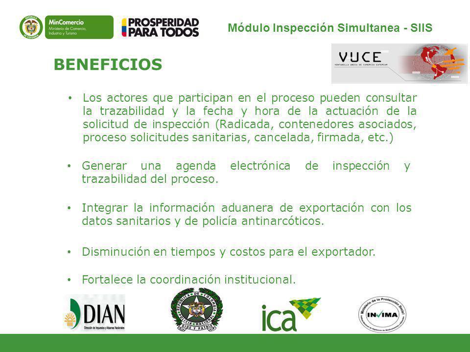 Módulo Inspección Simultanea - SIIS