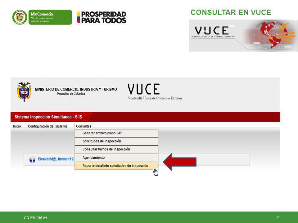 CONSULTAR EN VUCE GD-FM-016 V4 23 23