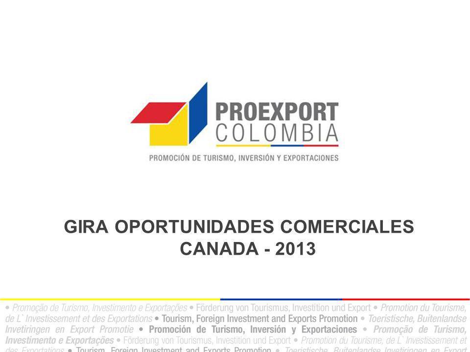 GIRA OPORTUNIDADES COMERCIALES CANADA - 2013