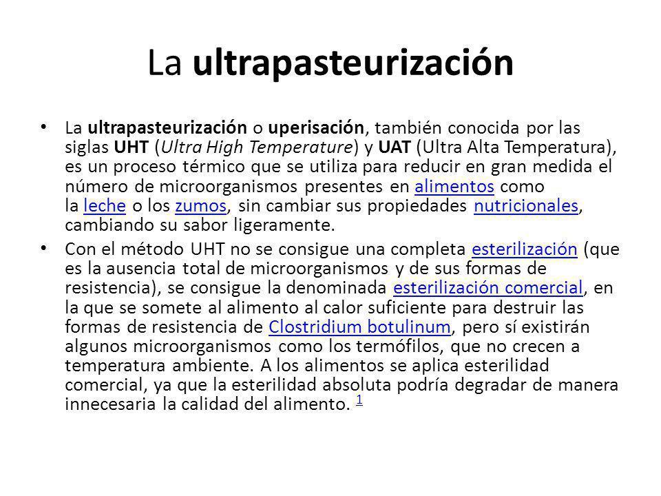 La ultrapasteurización