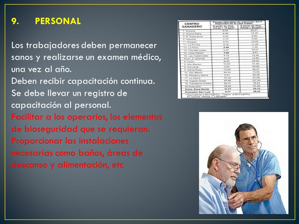 9. PERSONAL