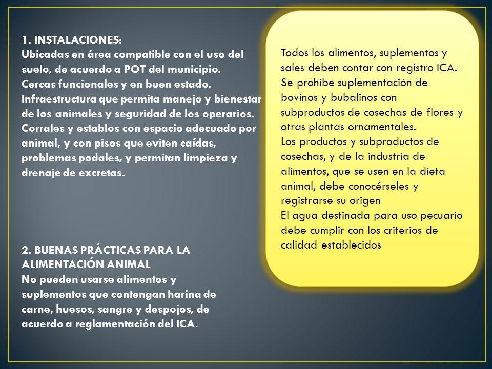 Todos los alimentos, suplementos y sales deben contar con registro ICA