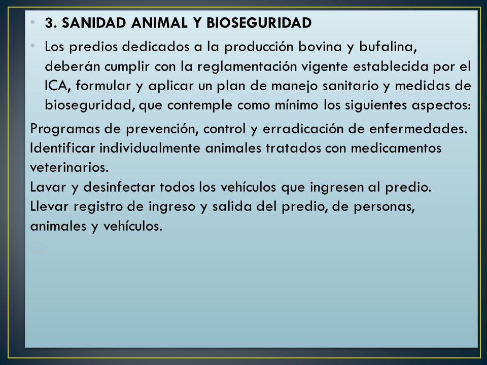 3. SANIDAD ANIMAL Y BIOSEGURIDAD