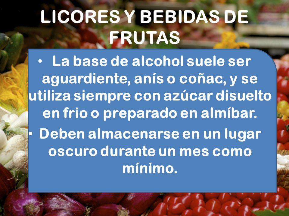 LICORES Y BEBIDAS DE FRUTAS