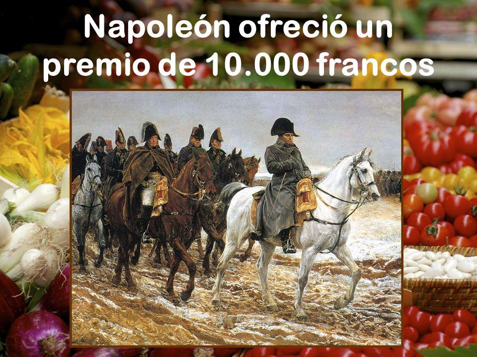 Napoleón ofreció un premio de 10.000 francos